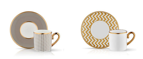 porcelain coffee cups with gold