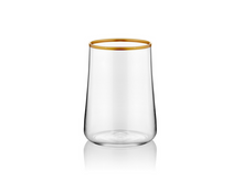 Aheste Coffee Side Glass - Gold Rim - Set of 6-Glasses-K-United