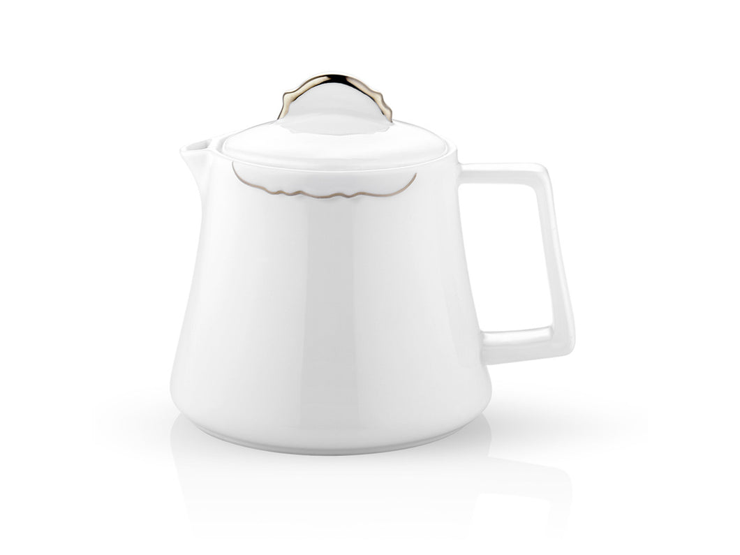 Eser-i Istanbul Tea Pot - Platinum-Tea Pots & Coffee Pots-K-United