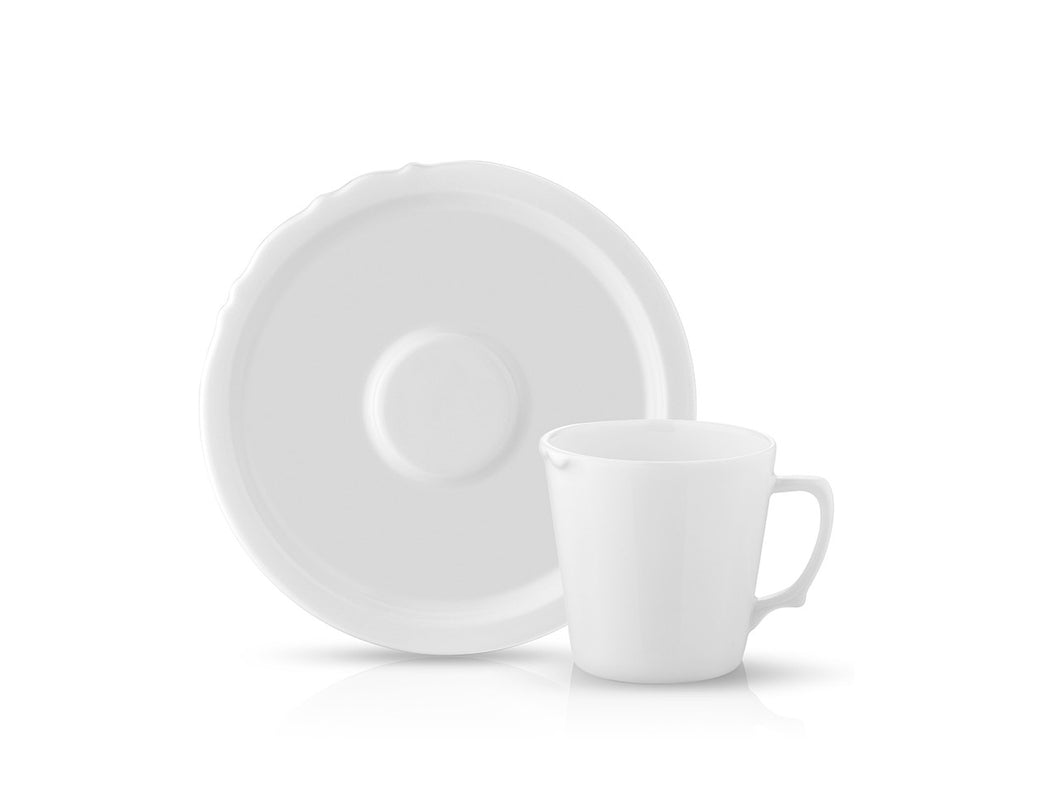 Eser-i Istanbul Cup and Saucer - Plain - 220 cc-Cups, Saucers & Mugs-K-United