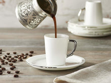 Eser-i Istanbul Coffee Cup and Saucer - Plain - 90 cc-Cups, Saucers & Mugs-K-United