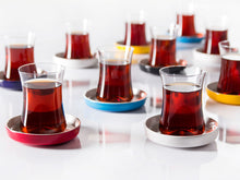 Istanbul Tiryaki Tea Glass and Saucer - Blue-Tea Sets-K-United