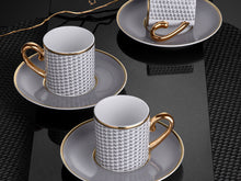Eva Sonia Coffee Cup and Saucer - Plain - 90 cc-Cups, Saucers & Mugs-K-United