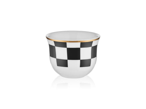 Candle Holder - Checkers Black & White - 90 cc-Candle Holder-K-United