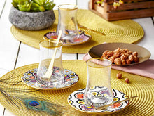 Dervish Candela Tea Glass and Saucer - Gold Rim-Tea Sets-K-United