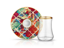 Dervish Amazon Tropic Tea Glass and Saucer-Tea Sets-K-United