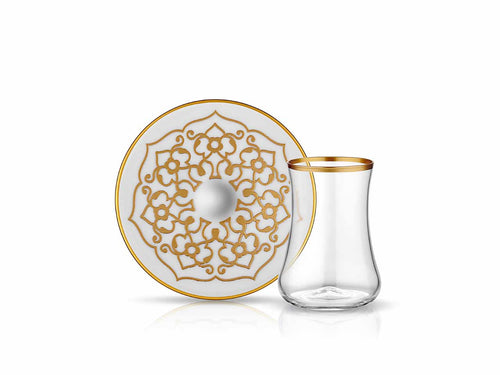 Dervish Motif Tea Glass and Saucer-Tea Sets-K-United