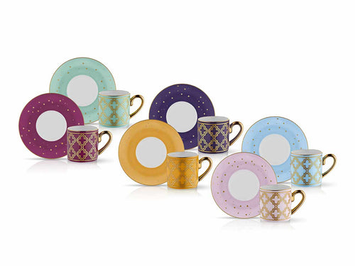 Eva Caprice Vienna Espresso Coffee Set - Set of 6 - 90 cc-Cups, Saucers & Mugs-K-United