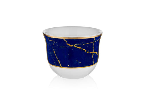 Evaliza Cups - Marble Cobalt Gold Colour - 90 cc