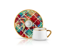 Sufi Coffee Cup and Saucer - Amazon Tropic - 90 cc-Cups, Saucers & Mugs-K-United