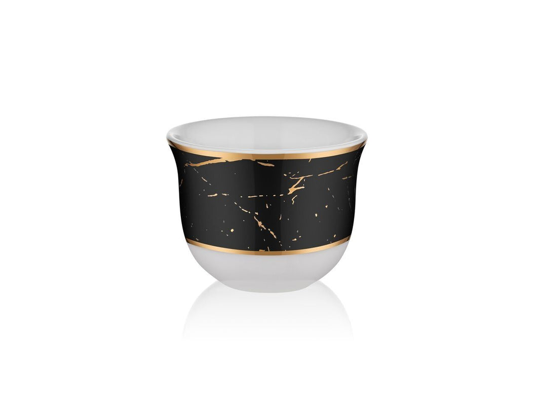 Candle Holder - Marble Black Gold - 90 cc-Candle Holder-K-United