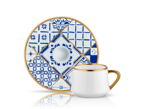 Sufi Coffee Cup and Saucer - Nikea - 90 cc-Cups, Saucers & Mugs-K-United