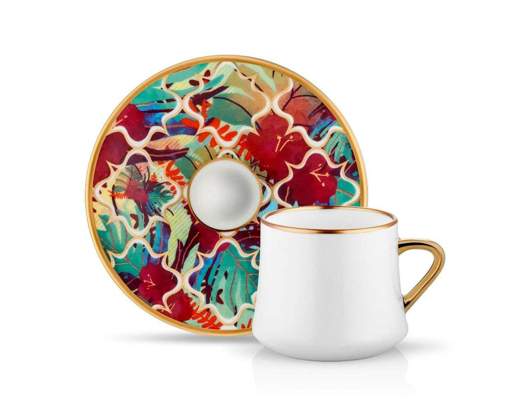 Sufi Tea Cup and Saucer - Amazon Tropic - 230 cc