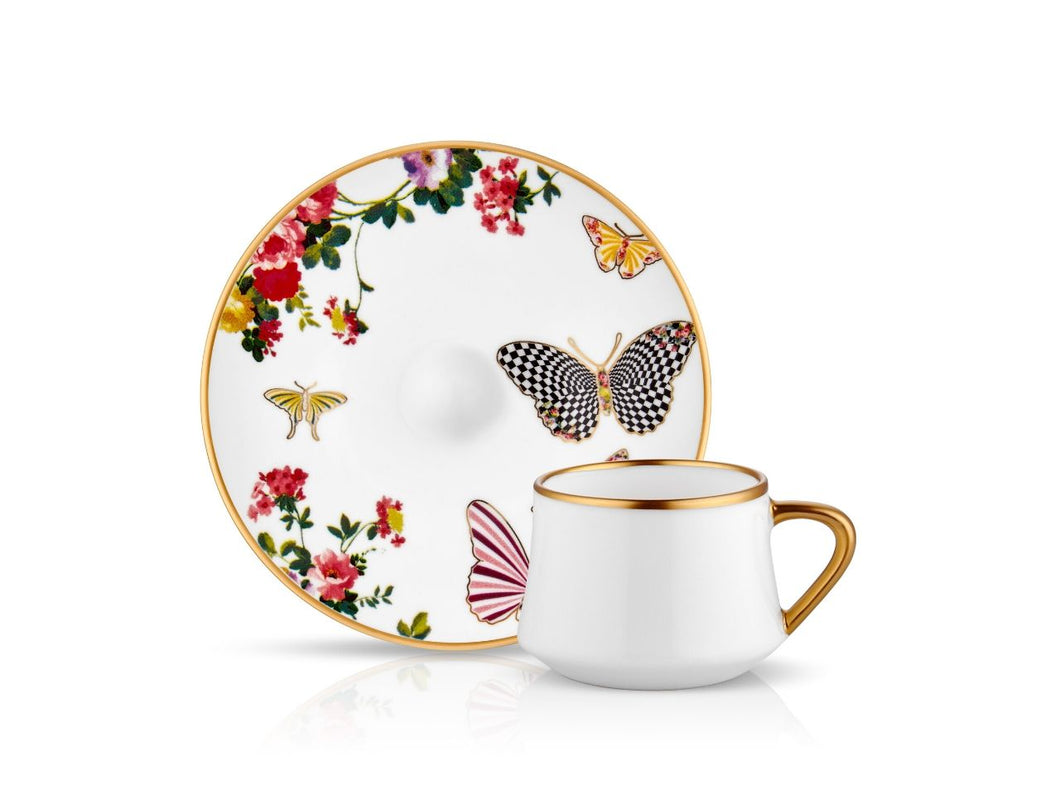 Sufi Espresso Coffee Set - Mariposa - 90 cc-Cups, Saucers & Mugs-K-United