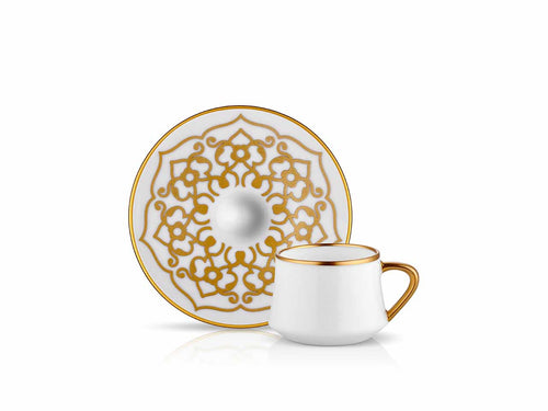 Sufi Coffee Cup and Saucer - Motif - 90 cc-Cups, Saucers & Mugs-K-United