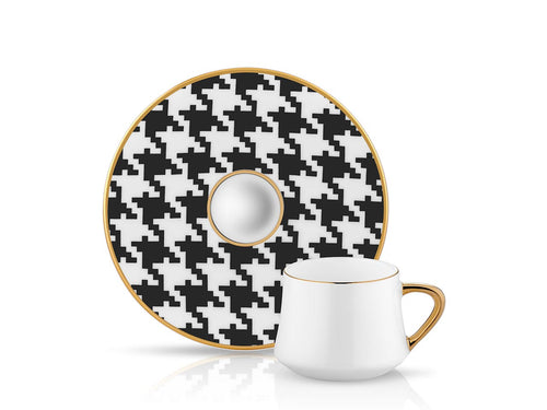 Sufi Coffee Cup and Saucer - Sandro - 90 cc-Cups, Saucers & Mugs-K-United