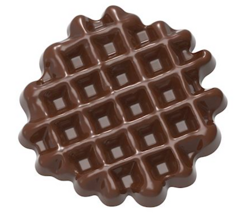 CW1626 Polycarbonate Chocolate Mould Small Waffle