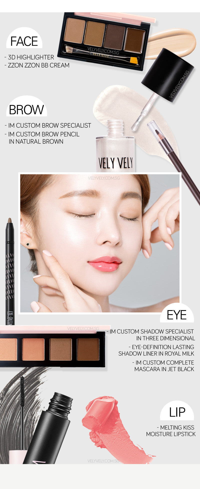 Get the makeup look with Vely vely's makeup products!