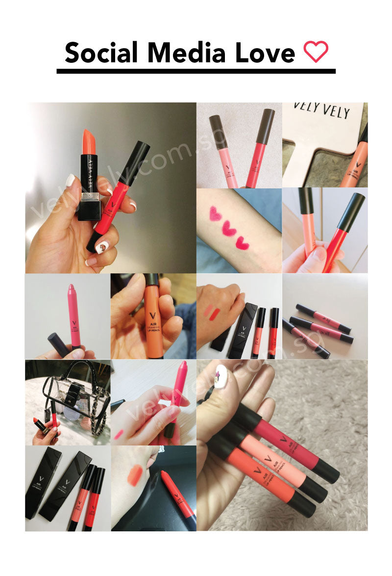 Our customers sharing the love for VelyVely from all over social media. Try our these amazing Air Drawing Lip Pencils today!