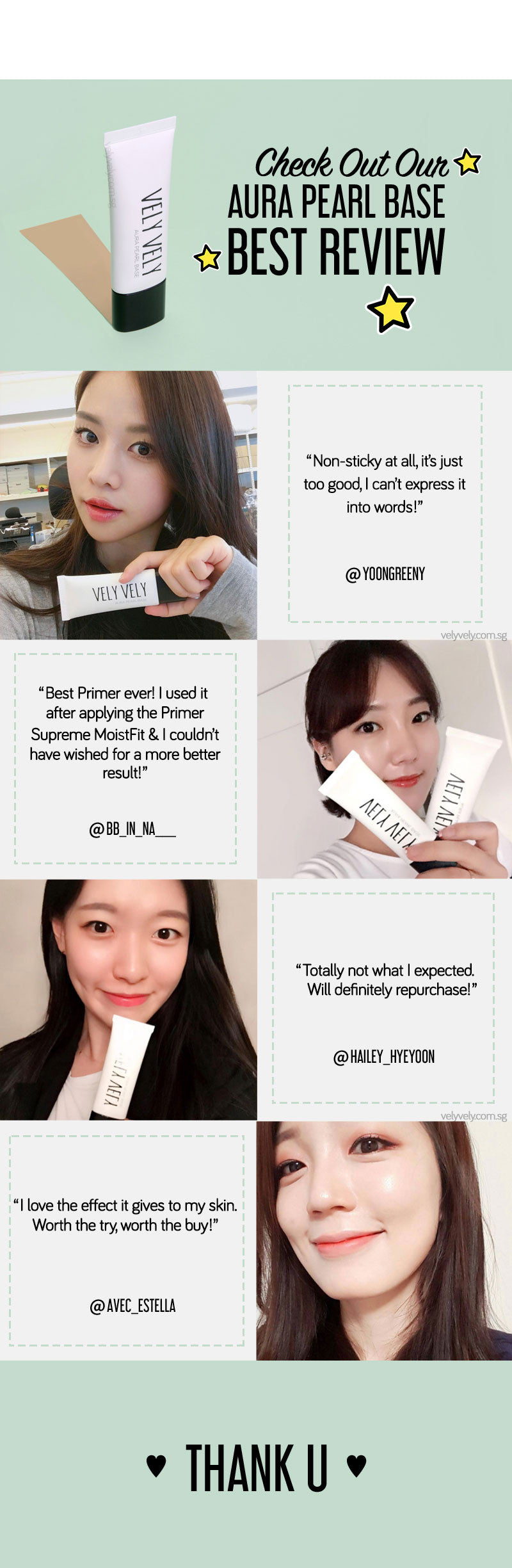 Check out the Aura Pearl Base Primer's positive reviews!
