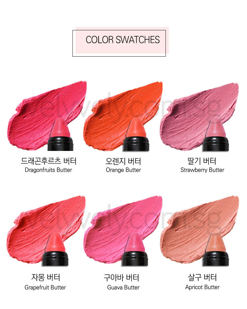 Korea's Cosmetic Brand, Vely Vely Sliding Butter Crayon Colour Swatches!