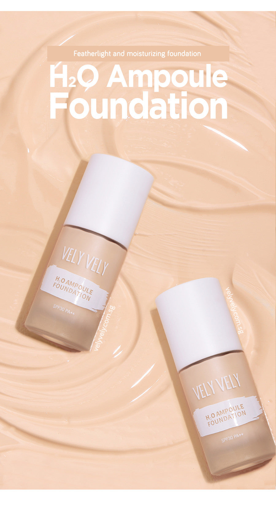 Vely Vely All New H2O Ampoule Foundation!