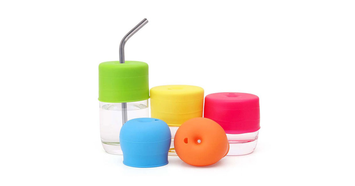 Set of 5 Silicone Spillproof Lids