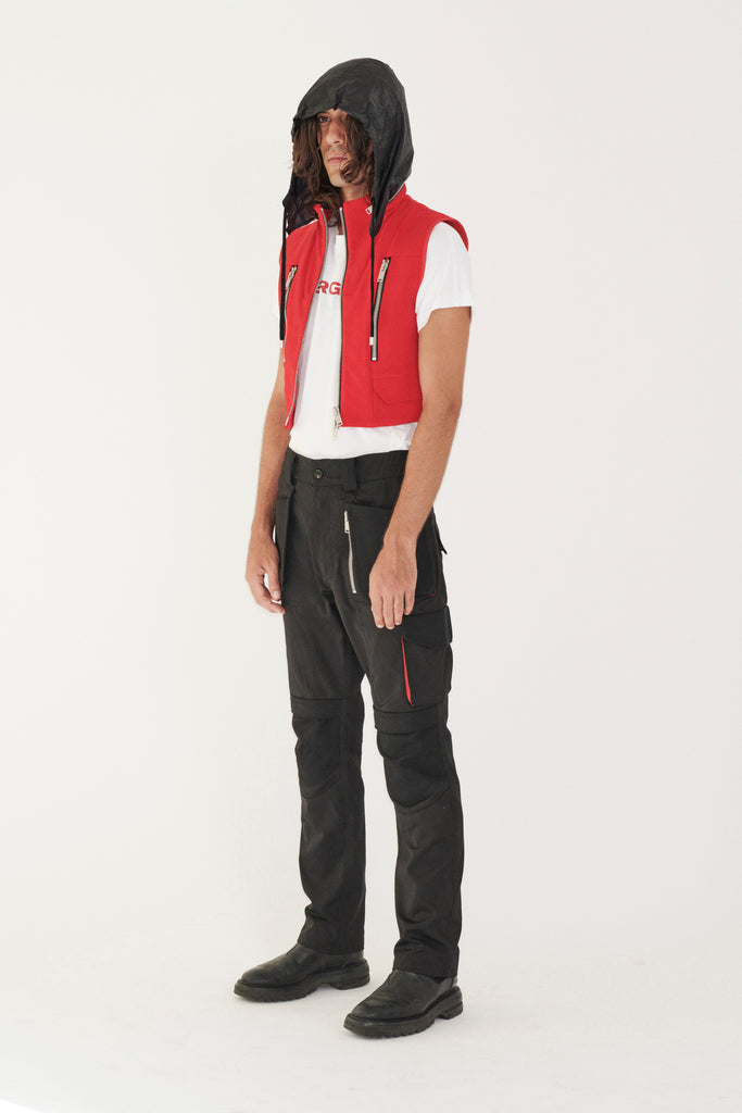 ADYAR - Red Cut-proof Kevlar Hug Vest - DEPARTAMENTO