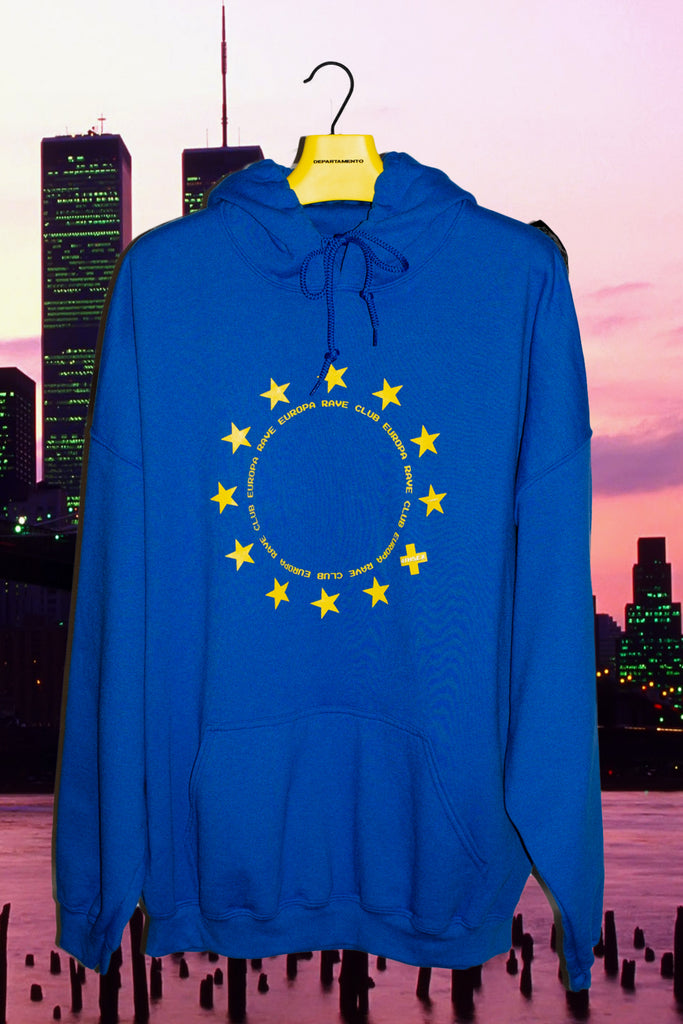 Europa Rave Club Hoodie by 4THSEX - get Free Shipping & Returns in USA. Shop online the latest Tops of 4THSEX for Men at DEPARTAMENTO.