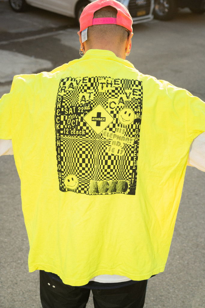 Stadion Neon Yellow Tee by 4THSEX - get Free Shipping & Returns in USA. Shop online the latest Tops of 4THSEX for Men at DPTO LA.