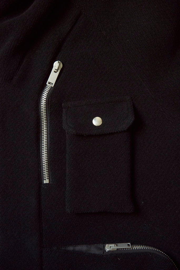 ADYAR - Virgin Wool Melton Shell Parka - DEPARTAMENTO