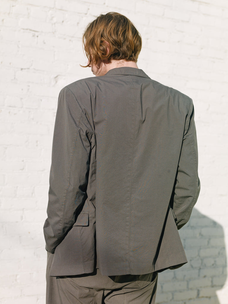 Dark Ash Grey Light Cotton Ventile Single Breasted Jacket