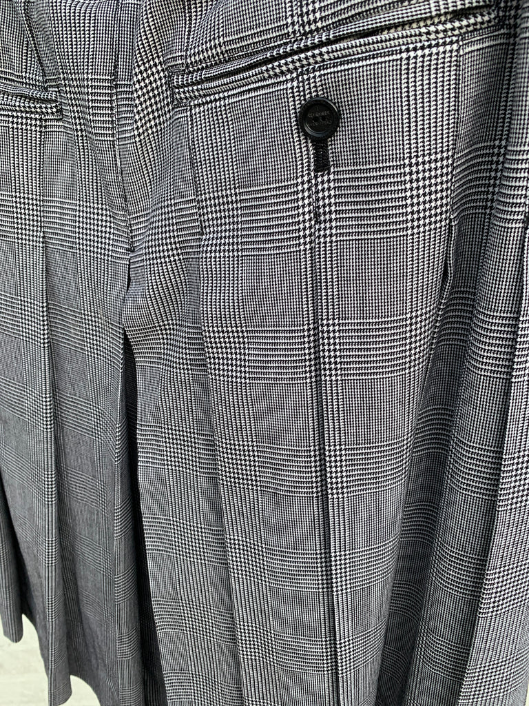 [vendor_title] Glen Check Kilt Skirt - DEPARTAMENTO