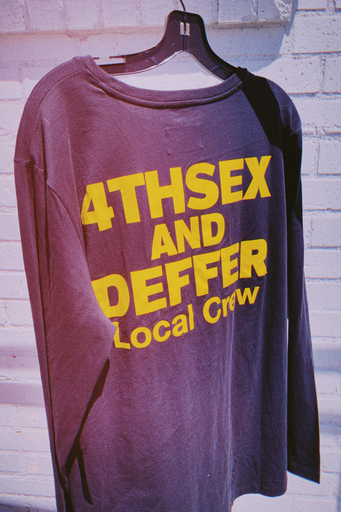 [vendor_title] 4THSEX AND DEFFER Local Crew Long Sleeve Tee - DEPARTAMENTO