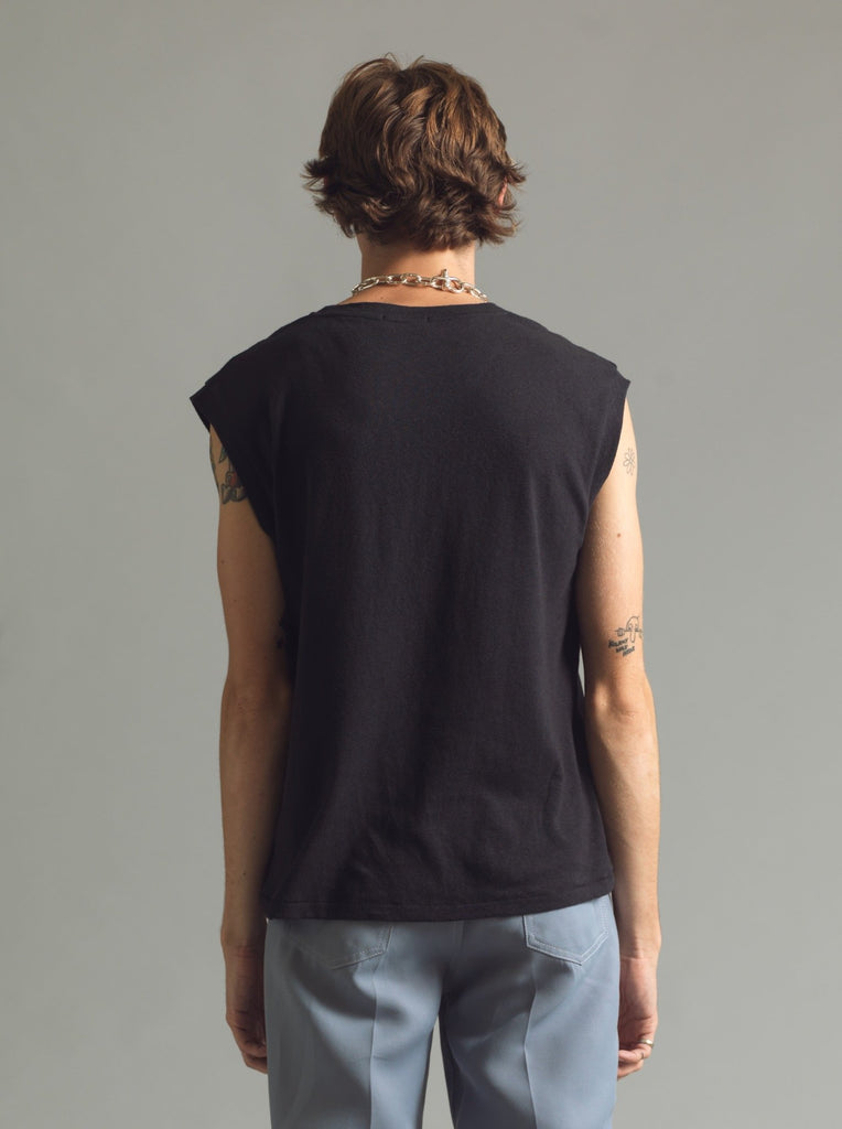 Black Core Sleeveless Tee