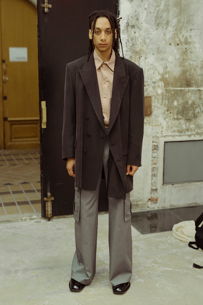 [vendor_title] Asher Modal Long Tailored Jacket - DEPARTAMENTO