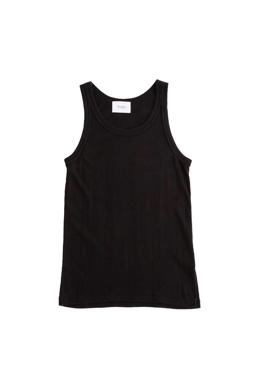 [vendor_title] Black Standard Rib Tank Top - DEPARTAMENTO