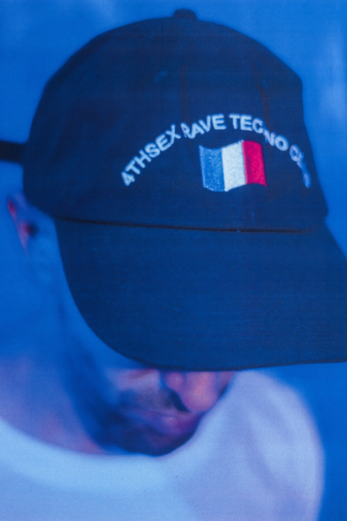 [vendor_title] French Rave Techno Club Dad Hat - DEPARTAMENTO