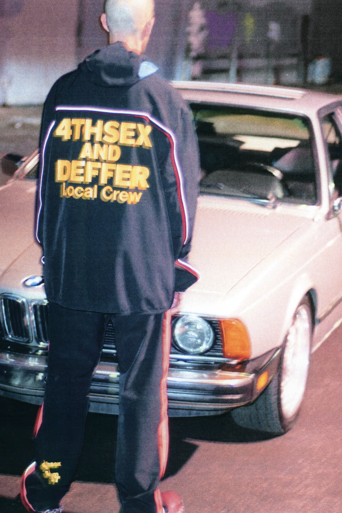 4THSEX AND DEFFER Local Crew Track Jacket - DEPARTAMENTO