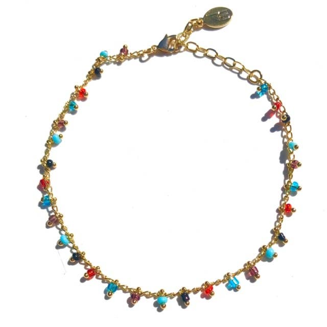 Nikki Smith Designs - Multi Beaded Anklet