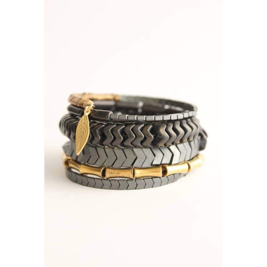 Mixed Metal Wrap Bracelet XINB02