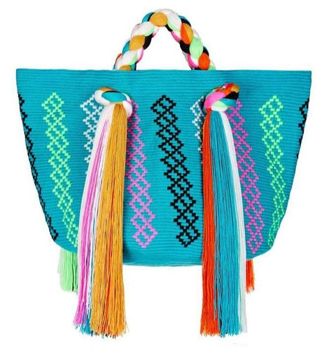 Eve Tasseled Tote - Rainbow