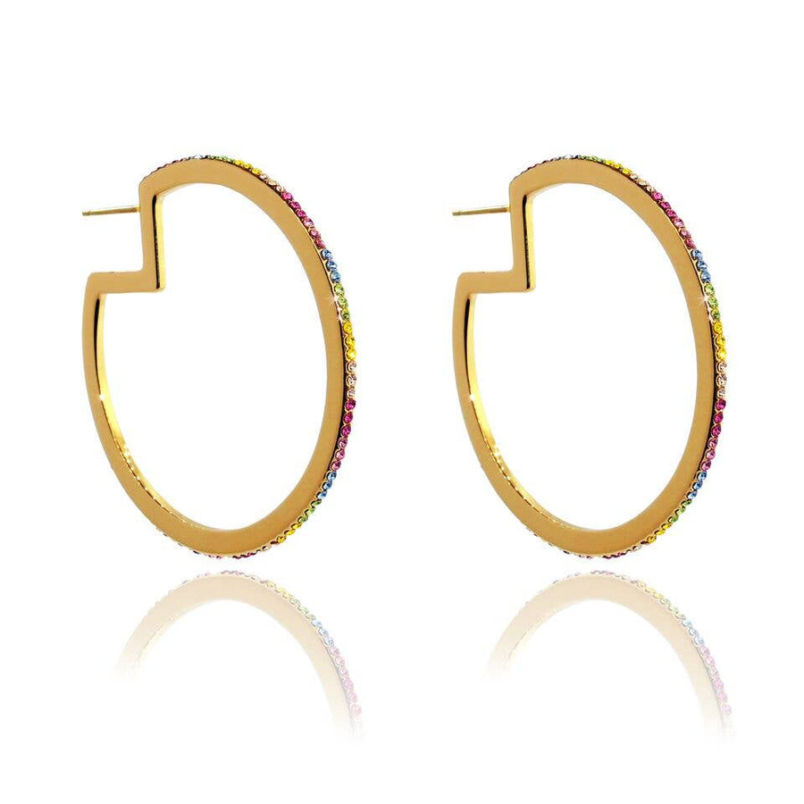 Liza Schwartz Jewelry - Rainbow Hoops- Click for Color Options