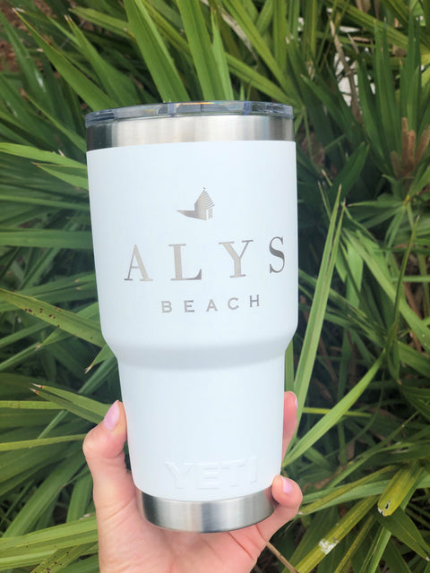 Alys Beach Yeti Rambler 30 oz. - White