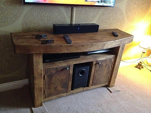 Orchid Chunky Solid Wood Tv Unit.