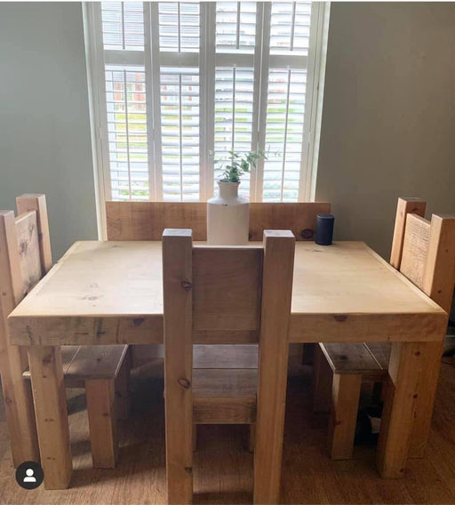 Butchers Block Rustic Wood Dining table.