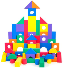 Image of 100 Piece Non-Toxic Wonder Blocks Foam Blocks