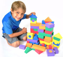 100 Piece Non-Toxic Wonder Blocks Foam Blocks