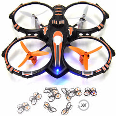 Image of RC Stunt Drone Quadcopter : 360 Flip Function, 2 Batteries, 2 USB Chargers, Landing Pad & Spare Parts