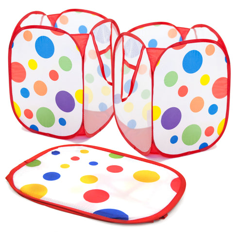Babies & Kids Polka Dot Pop-Up Storage Hamper (Set of 3) - eWonderWorld